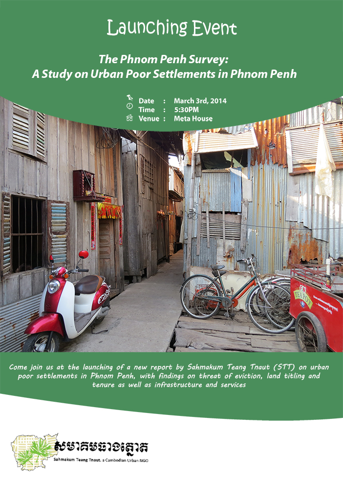 Release of 'The Phnom Penh Survey: A study on urban poor settlements in Phnom Penh'