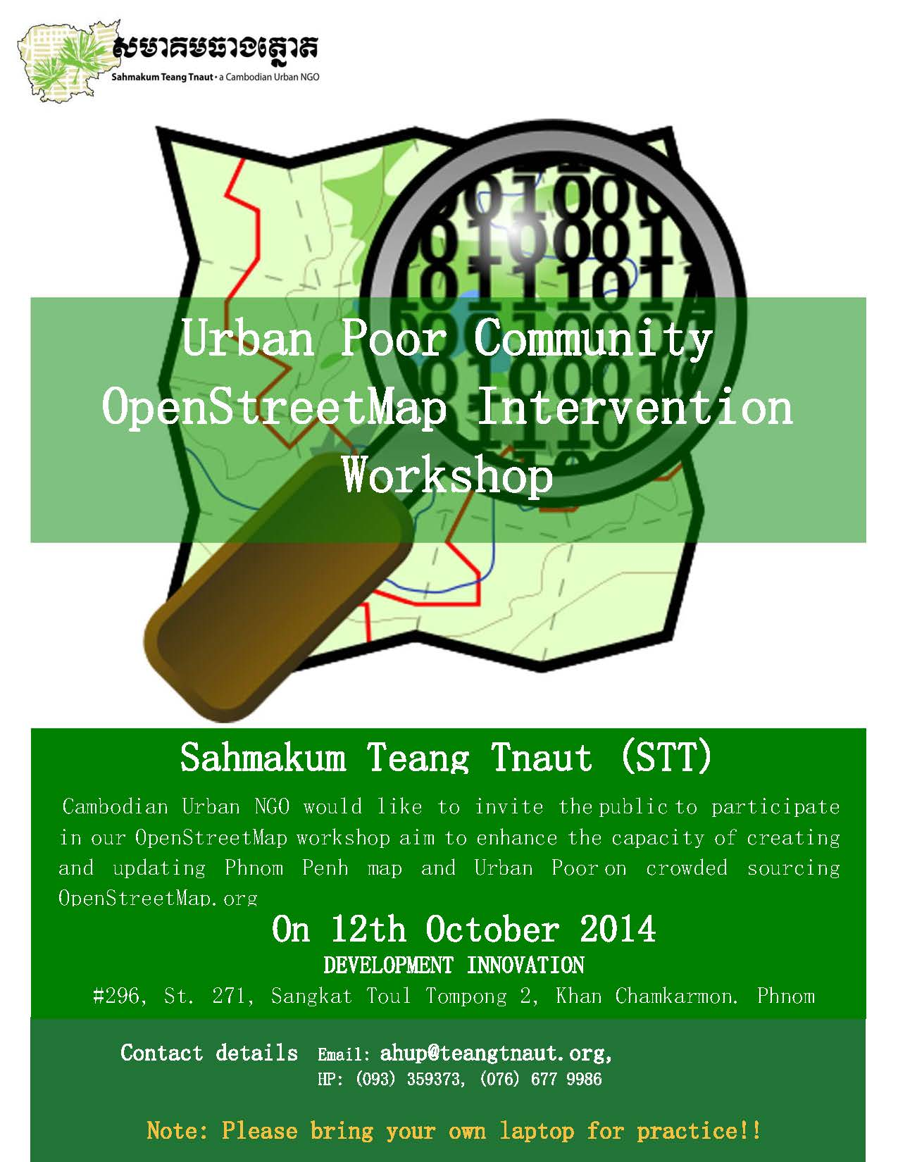 Urban Poor Community OpenStreetMap Intervention Workshop