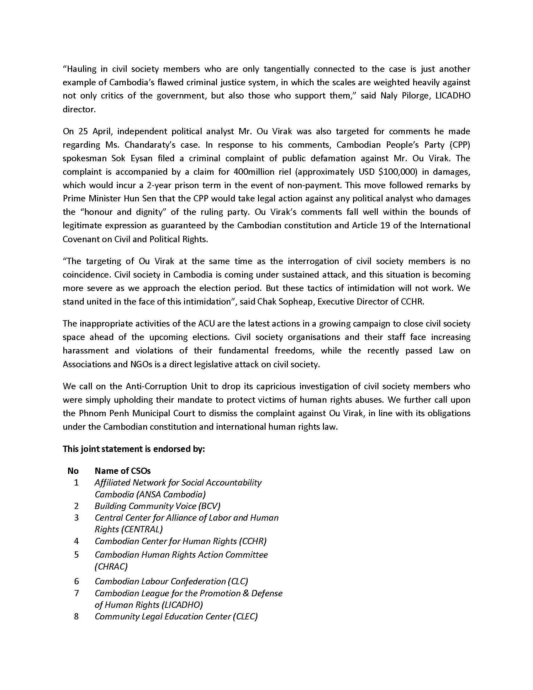 402Joint Press Release - CSOs call upon the authorities to immediately cease harrassment of human rights defenders _(ENG)-2_Page_2