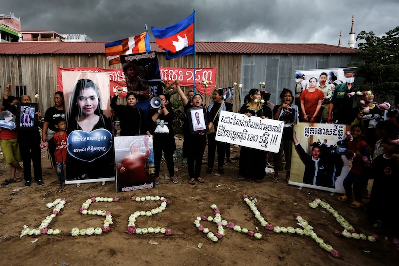 Protesters Call for Release of Imprisoned Activist Tep Vanny