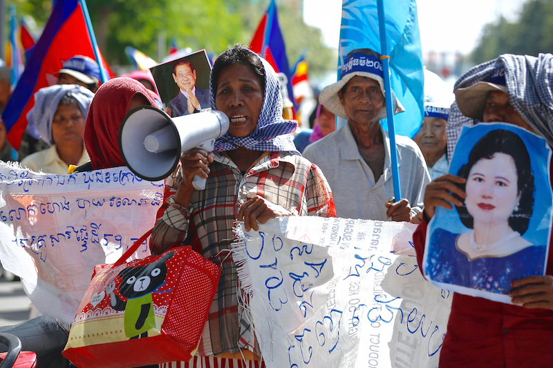 Farmers Protest in Phnom Penh Against Sugarcane Plantations