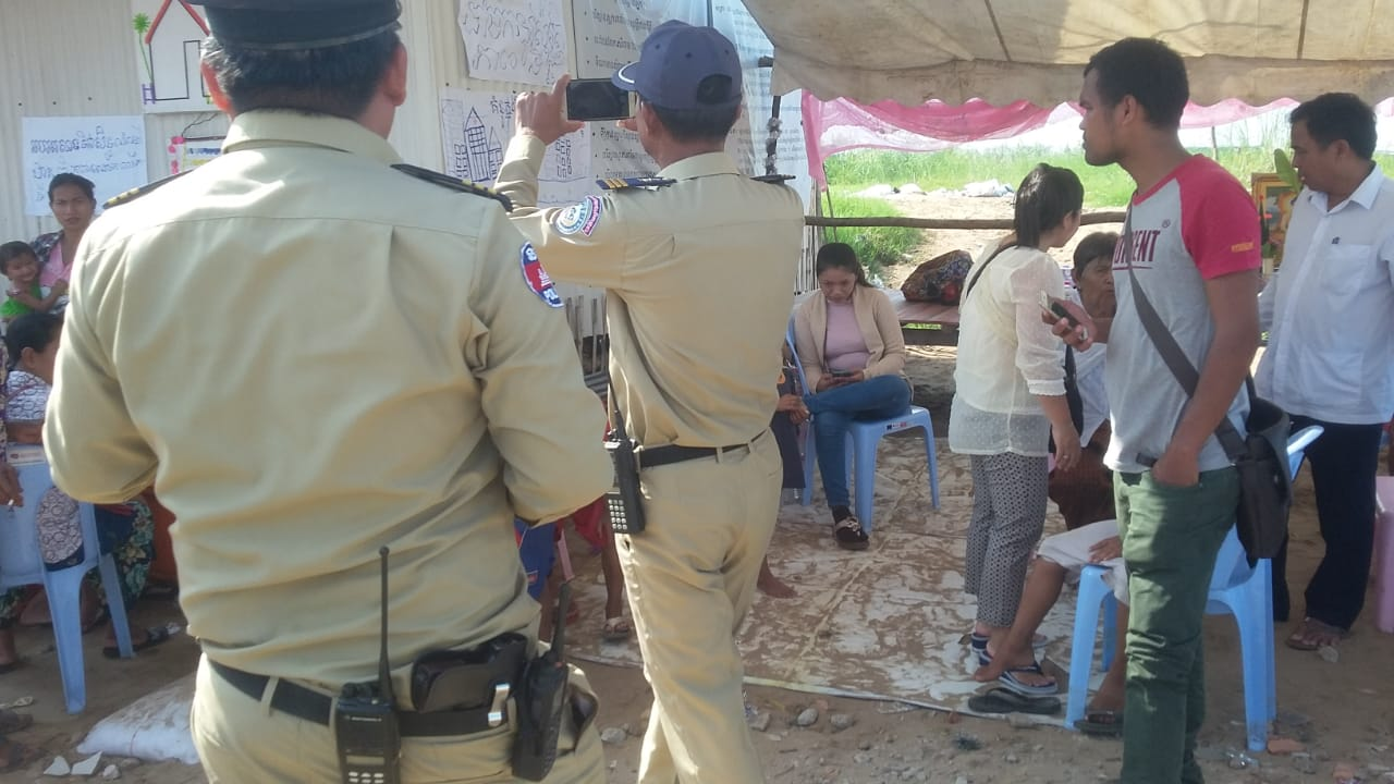 Questioning and violation of rights of Community Leader by police at World Habitat Day event in Prek Takong 60 Metres